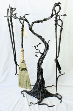Hand Made Custom Fireplace Tool Sets by Earth Eagle Forge | CustomMade.com... Many options.