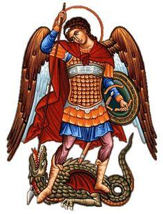 Saint Michael the Archangel Saint Michael, Byzantine Art, Byzantine Icons, Angels Among Us, Angels And Demons, Religious Icons, Religious Art, Angel Protector, Saint Gabriel