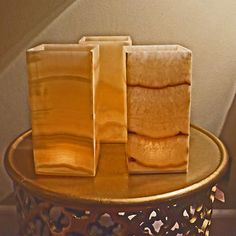 Aton Egyptian Alabaster Candle Sleeves- 3-pack Home Lighting Automation, Egyptian, Towel, Candles, Desserts, Sleeves, Tailgate Desserts, Deserts, Candy