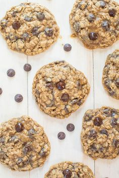 Oatmeal Chocolate Chip Cookies - Soft, chewy, loaded with chocolate ...