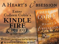 Can a woman held captive by her family make it back to the one man she knows she can trust? Find out in book two, A Heart's Obsession, of Colleen Coble's Journey of the Heart series. When Sarah Montgomery's father succumbs to his long illness, Sarah is faced with a life-altering choice: submit to her brother's will and marry the deceptive Ben Croftner . . . or escape through the dangerous American West to reclaim the heart of her beloved Rand Campbell at Fort Laramie, Wyoming.  Celebrate…