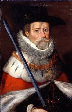 King James VI and I (1566 - 1625) 1607. During his reign, he commissioned the King James version of the Bible. Jamestown, in America, was named after him. However, due to his severe religious persecutions, the Pilgrims set forth for Plymouth Rock during his reign.