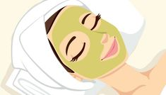 Illustration about Woman having acne treatment with natural facial green mask to clean face skin. Illustration of cosmetic, acne, natural - 35402493 Spa Facial, Natural Facial, Facial Massage, Facial Masks, Acne Facial, Face Care, Skin Care, Clean Face, Facial Treatment