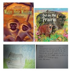 To address NGSS PE 2-LS4-1, students can use the information in these books to create post cards that animals in different environments send one another, describing the place where they live.