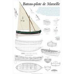 Bateau-pilote de Marseille, plan de modélisme