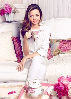 Miranda Kerr has launched her debut tea collection for Royal Albert, and is busy planning her upcoming range of silverware, glassware and gifts
