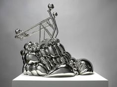 Joel Morrison, The Reaganomic Youth (version 2), 2012. Stainless steel, 28 1/2 x 18 x 22 1/2 inches (72.4 x 45.7 x 57.2 cm), Ed. of 3. Photo by Erich Koyama.