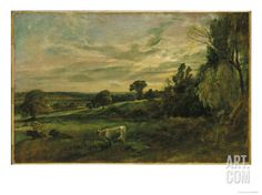 Summer Evening Near East Bergholt, Suffolk Giclee Print by John Constable at Art.com
