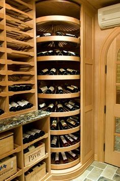What do billionaire entrepreneur Richard Branson, former Amway CEO Dick DeVos, and celebrity adopters Brad Pitt and Angelina Jolie have in common? Their wine cellars. Küchen Design, House Design, Interior Design, Ideas Baños, Home Wine Cellars, Wine Cellar Design, In Vino Veritas, Italian Wine, Wine Storage