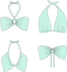 "Free Sewing Pattern: Convertible Bikini ""Monroe"" – Mr is a trail, … - Leotards Dress Sewing Patterns, Sewing Patterns Free, Free Sewing, Lingerie Couture, Sewing Lingerie, Diy Clothing, Sewing Clothes, Fashion Sewing, Diy Fashion"