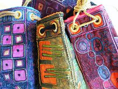Bag inspired by Klimt - Angie's textile notes