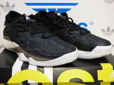 new style 57e1c 21f7c ADIDAS CRAZYLIGHT BOOST LOW 2016 BLACK WHITE B42722 US 185.00 Adidas Boost,  Black White,