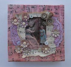 vintage sheet music box