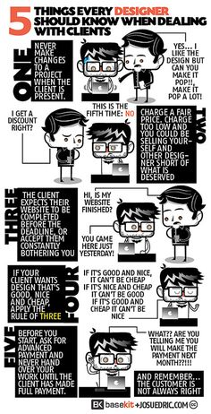 GRAPHIC DESIGN – 5 Things Every Designer Should Know When Dealing With Clients | Comic