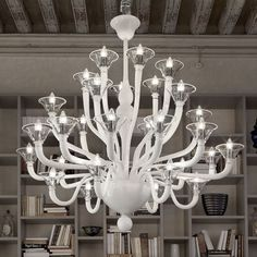 Biancomurano Chandelier by Masiero Italian Lighting, Modern Lighting, Lighting Design, Contemporary Chandelier, Contemporary Interior, Chandelier Lighting, Chandeliers, Modern Light Fittings, Decor Styles