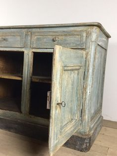 Stunning French Oak Early 19thC Painted Enfilade