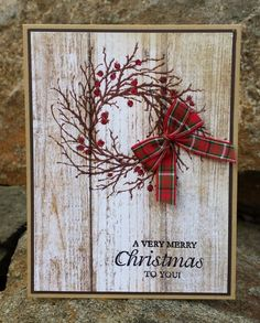 Today's card was a pretty quick and easy one. Bonus I LOVE how it tur Weihnachten Xmas cards Simple Christmas Cards, Homemade Christmas Cards, Handmade Christmas Gifts, Christmas Paper, Xmas Cards, Christmas Greetings, Homemade Cards, Holiday Cards, Gift Cards