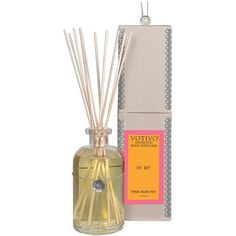 Votivo Aromatic Reed Diffuser ($44) ❤ liked on Polyvore featuring home, home decor, home fragrance, pink mimosa, fragrance reed diffuser, home scents, reed diffuser set and aromatic diffuser