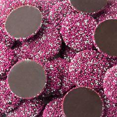Pink & White Dark Chocolate Nonpareils $5.99