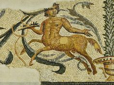 Centaur Mosaic discovered near the ancient Roman theater at Orange, France. late 2nd century CE - early 3rd century CE