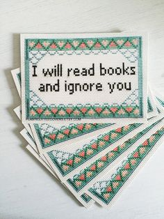 Postcard Print I Will Read Books and Ignore You
