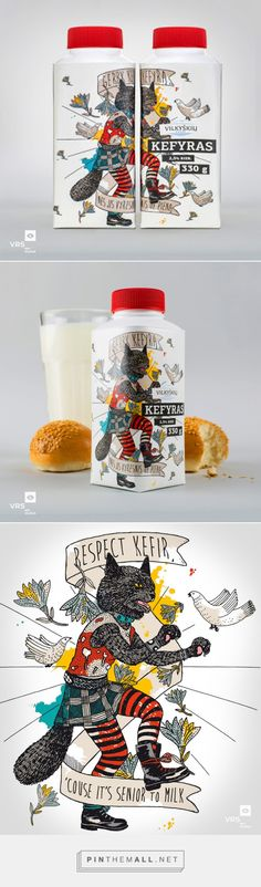 Vilkyškių kefir on Packaging of the World by VRS WPI Vilnius curated by Packaging Diva PD. For the packaging smile file : )