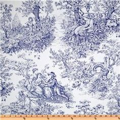 Timeless Treasures French Court Toile Navy/White  Item Number: EW-904