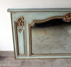 Late 19th Century French Provincial Mirror   MANLY VINTAGE