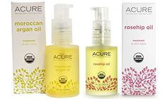 Acure Organics Certified Organic Rosehip Oil and Argan Oil Bundle For Face and Body Natural AntiAging and Environmental Damage Serum With Vitamin C  E 1 fl oz each *** See this great product.
