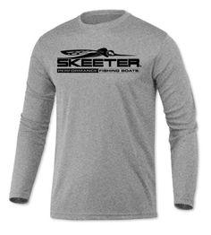 Skeeter fishing boat EMBROIDERED logo Black polo shirt