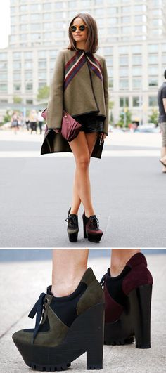 Sky high wedge.  by Burberry Prorsum.  as worn by Miroslava Duma.
