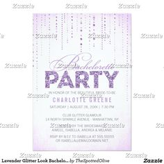 Lavender Glitter Look Bachelorette Party