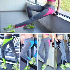 Women High Waist Leggings Yoga Sports Running Pants Fitness Gym Elastic Leggings