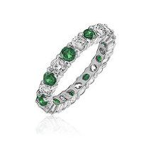 Green Diamond Shop are happy to offer the brilliant 1.00ttw Natural White Round Diamonds (SI-Clarity, GH-Color) & Green Emerald (AA+ Clarity, Green-Color) Prong Set Eternity Band in 14k White Gold.size 9.    With so many available these days, it is good to have a brand you can recognise. The 1.00ttw Natural White Round Diamonds (SI-Clarity, GH-Color) & Green Emerald (AA+ Clarity, Green-Color) Prong Set Eternity Band in 14k White Gold.size 9 is certainly that and will be a excellent…