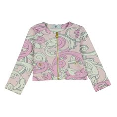 1d7e67753 Young Versace Baby Girls Pink Baroque Print Jacket Print Jacket, Babies  Clothes, Rhodes,