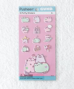 Pastel Pusheen Puffy Bubble Sticker Sheet