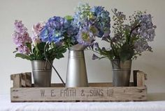 jug and bucket wedding flowers - Google Search