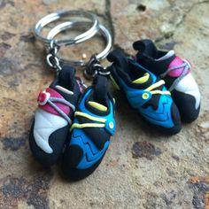 Rock Climbing Shoe Keychains Partner's Set Custom by HeelHooks