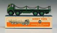 vintage dinky toy trucks - 505 Foden chain lorry with barred grill; got one, no box, Not for sale.