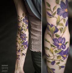 Lukovnikov flower tattoo