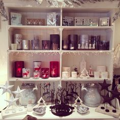 Christmas shop display Visual merchandising  Retail  Candle holders  Nora's Ilkley Yorkshire
