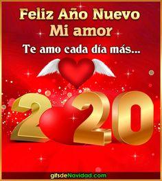 Para que felicites al Amor de tu vida con estilo y alegría | Gifmaniacos.es Spanish Greetings, Animated Heart, I Love You Pictures, Love Is Comic, Fun Games, Holiday, Christmas, Merry, Relationship