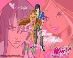 the winx club couple flora helia Winx Club, Disney Movies, Disney Characters, Fictional Characters, Italian Baby Names, Las Winx, Flora Winx, Girls Are Awesome, Couple Cartoon