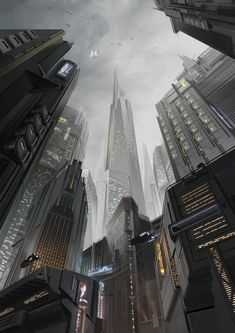 German Cyberpunk, shadowrunner and video games enthusiast. Cyberpunk City, Cyberpunk Kunst, Futuristic City, Futuristic Architecture, Fantasy City, Fantasy Places, Sci Fi Fantasy, Fantasy World, Fantasy Dragon