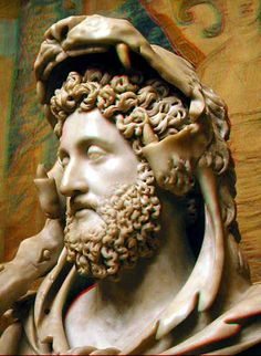 Roman emperor Commodus dressed as Hercules.