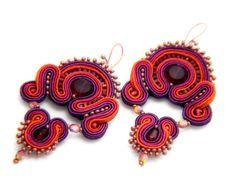 crystal warrior    soutache earrings  free shipping by KimimilaArt