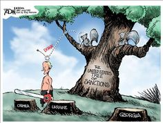 Hey, squirrels are too cute for this guy! Political Cartoons by Glenn Foden