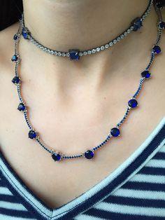 Compre Colar riviera zirconias azuis safira semi jóia fina na Waufen ✓ Semjoias Finas ✓ Ótimos Preços ✓ Entrega Rápida e Segura ✓ Pgto em até 12 Vezes