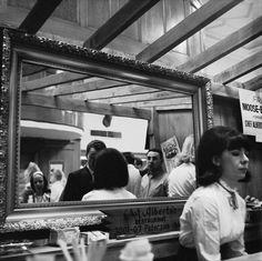 """Vivian Maier (channeling Manet's (""""A Bar at the Folies-Bergère""""?)"""