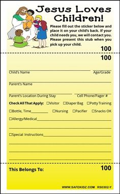 1000 images about church nursery on pinterest church for Nursery sign in sheet template